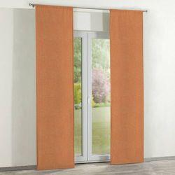 Dekoria  zasłony panelowe 2 szt., pomarańczowy z delikatnymi kwiatami, 60 x 260 cm, taffeta do -30%