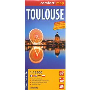 ExpressMap Tuluza Toulouse laminowany plan miasta 1:15 000 (kategoria: Mapy i atlasy)