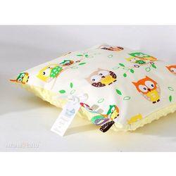 Mamo-tato poduszka minky dwustronna 30x40 sówki kremowe / żółty