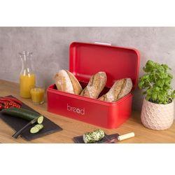 Metalowy chlebak, pojemnik na pieczywo - kolor czerwony (5902973405064)