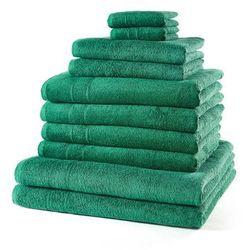 """Bonprix Komplet ręczników """"new uni""""(10 części) zielony"""
