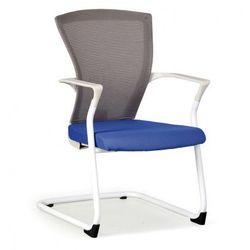 Krzesło konferencyjne Bret, biało/ niebieskie