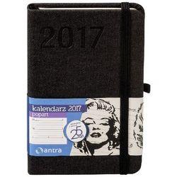 Kalendarz kieszonkowy 2017. Popart. A6. Czarny