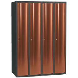 Szafa do przebieralni 4x1 schowek w pionie Kolor drzw: Miedziany metalizowany, kup u jednego z partnerów