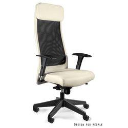 Unique Obrotowe krzesło do biura ares soft pu beż