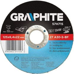 Tarcza do szlifowania GRAPHITE 57H714 115 x 6.4 x 22.2 mm do metalu z kategorii pozostałe narzędzia elektryczne