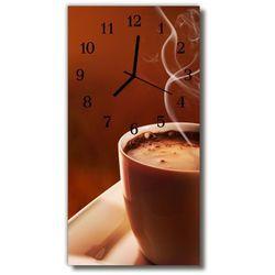 Zegar Szklany Pionowy Filiżanka Kawa beżowy