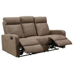 3-osobowa sofa CARLINA typu relaks z tkaniny– Kolor taupe, kolor szary