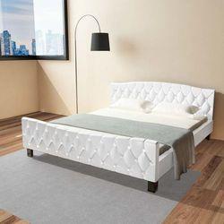 podwójne łóżko z materacem memory, 180 x 200 cm, białe marki Vidaxl