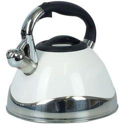 Kela Czajnik stalowy biały z gwizdkiem varus 3 litry (ke-11657) (4025457116575)