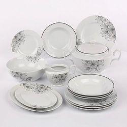 Zakłady porcelany chodzież s.a. Zestaw obiadowy 12 osób 41el. dek.agapantus mariapaula