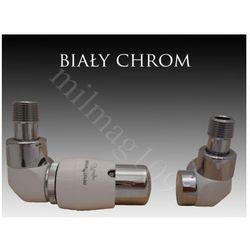 Zestaw zaworów grzejnikowych termostatycznych LUX lewy BIAŁY -CHROM z kategorii Zawory i głowice