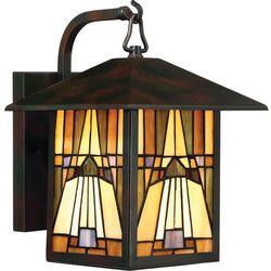 Ogrodowa lampa ścienna inglenook qz/inglenook2/m elstead witrażowa oprawa zewnętrzna outdoor ip44 multikolor marki Quoizel