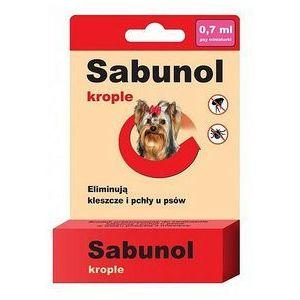 Sabunol Krople Spot On przeciw pchłom i kleszczom dla psa XS 0,7ml - Estra Small, MS_7198