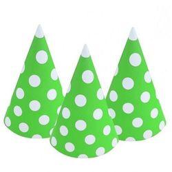 Czapeczki papierowe Groszki, zielone, pistacjowe 6 szt. (5901238693895)