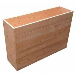 Wysoka prostokątna donica ogrodowa z litego drewna - benito marki Elior