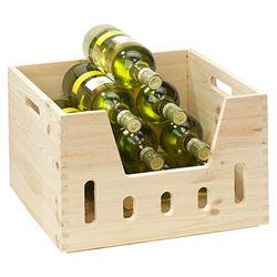 Skrzynka ozdobna z drewna sosnowego, skrzynka drewniana, pojemnik na zabawki, skrzynka na wino, pudełko do przechowywania, marki Kesper