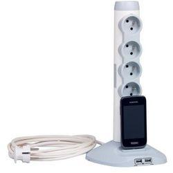 Legrand Przedłużacz pionowy 4x2P+Z+2xUSB+1xmicro USB - 2,0m 50014