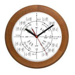 Zegar drewniany rondo geometria, ATW301M4