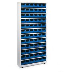 Regał z 72 niebieskimi pojemnikami, 200x950x250 mm marki Array