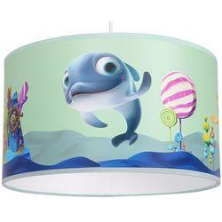 Milagro Dziecięca lampa wisząca minimini mlp6802 okrągła oprawa delfinek zwis abażurowy multikolor
