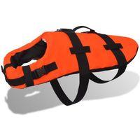 Vidaxl  kamizelka ratunkowa dla psa s pomarańczowa (8718475994480)