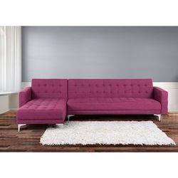 Sofa fioletowa - kanapa - tapicerowana - rozkladana - naroznik - ABERDEEN - sprawdź w Beliani