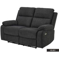 Selsey sofa dwuosobowa dinah z wysuwanym podnóżkiem grafitowa (5903025546438)