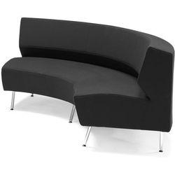 Ciemno szara sofa skrętna do wewnątrz - system sof modułowych - produkt z kategorii- Sofy