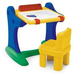 edukacyjne biurko z tablicą i krzesełkiem marki Chicco