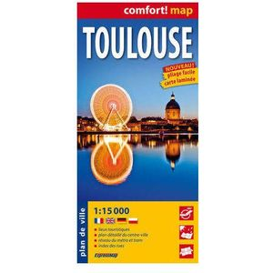 ExpressMap Tuluza Toulouse laminowany plan miasta 1:15 000, oprawa miękka