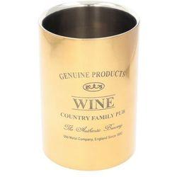schładzacz do wina genuine gold, 12,5 × 12,5 × 18 cm marki Dekoria
