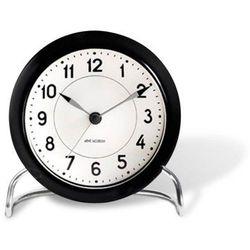 Zegar stołowy Arne Jacobsen Station czarno-biały, 43672