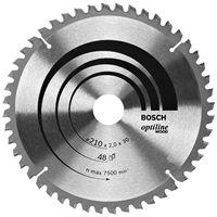 Tarcza do piły tarczowej Optiline Wood, 210 x 30 x 2,0 mm, 48 Bosch 2608640430, 1 szt., 2608640430