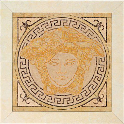 PALACE LIVING Rosoni Medusa in ceramica Oro 41x41 (P81) od 7i9.pl Wszystko  Dla Domu