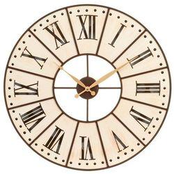 Drewniany zegar ścienny, duży zegar do salonu - Ø 58 cm marki Atmosphera créateur d'intérieur