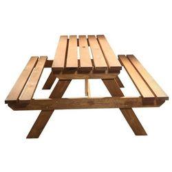 Ławka piknikowa GoodHome Agad brązowa, KF03514