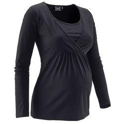 Bonprix Shirt ciążowy i do karmienia  czarny