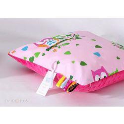 poduszka minky dwustronna 30x40 sówki różowe / fuksja marki Mamo-tato