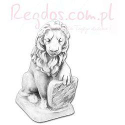 Figura betonowa lew z tarczą motyw 2
