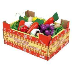 Warzywa w Skrzyneczce Mix - 11 sztuk - zabawka dla dzieci - sprawdź w www.epinokio.pl