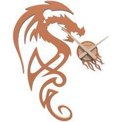 Zegar ścienny dragon  terakota marki Calleadesign
