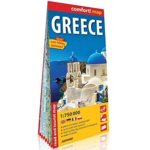 Grecja mapa samochodowo-turystyczna 1:750 000 - Praca zbiorowa (9788380465923)