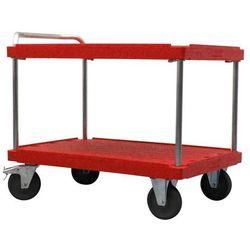 Eurokraft Wózek stołowy do dużych obciążeń, dł. x szer. 1200x800 mm, nośność 500 kg, czerw