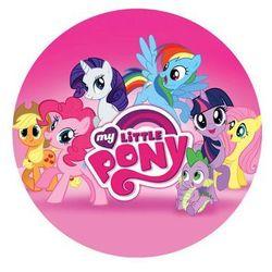 Dekoracyjny opłatek tortowy My Little Pony - 20 cm - 1