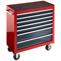 Wózek narzędziowy JUMBO, 7 szuflad, wys. x szer. x głęb. 1010x914x458 mm, czerwo