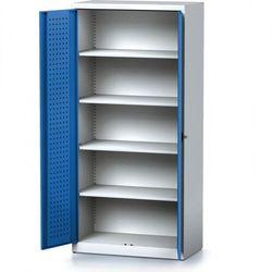 Szafa warsztatowa mechanic, 1950 x 920 x 500 mm, 4 półki, niebieskie drzwi marki B2b partner