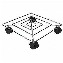 Toolland stalowy wózek pod donice - kwadratowy - 300 x 300 mm - udźwig maks. 50 kg