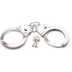Metalowe kajdanki na klucz mocne solidne i trwałe - produkt z kategorii- Kajdanki erotyczne