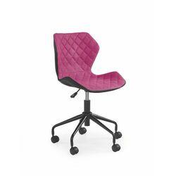 Fotel Matrix Czarno - Różowy kółka do parkietów